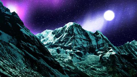 Night Sky Mountains 07 Stock Video Footage