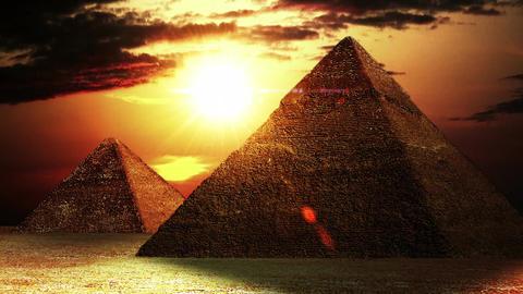 Pyramids 01 Stock Video Footage