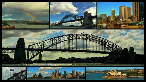 Sydney Splitscreen 01 Stock Video Footage