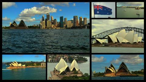 Sydney Splitscreen 03 Stock Video Footage