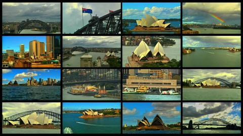 Sydney Splitscreen 05 Stock Video Footage