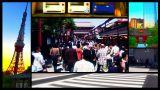 Tokyo Street Splitscreen 02 stock footage