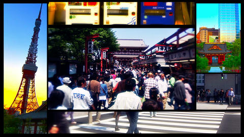 Tokyo Street Splitscreen 02 Footage