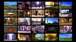 Tokyo Street Splitscreen 04 Stock Video Footage