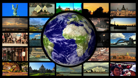 Travel SplitScreen 01 Stock Video Footage