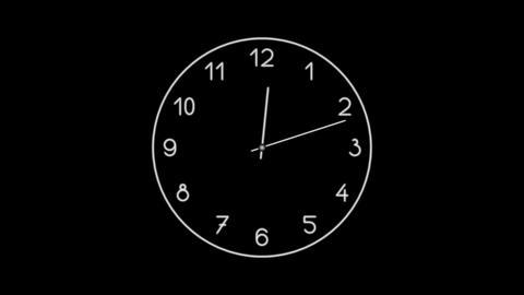 Clock-18C Stock Video Footage