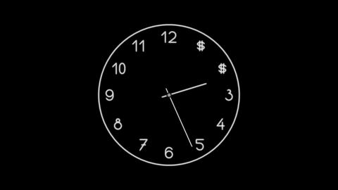 Clock-18C Stock Video Footage