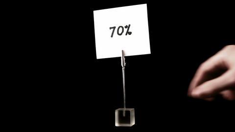 percentage. written on white Stock Video Footage