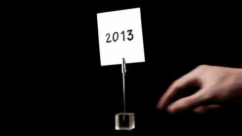 new year. written on white Stock Video Footage