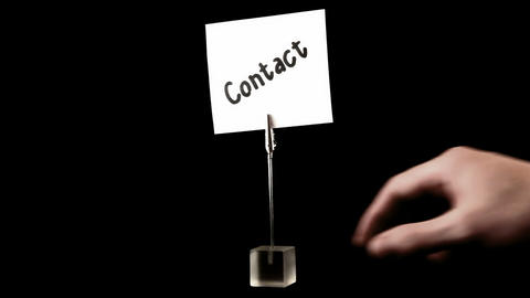 contact. written on white Stock Video Footage