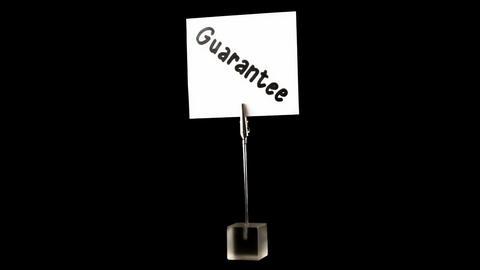 guarantee. written on white Stock Video Footage