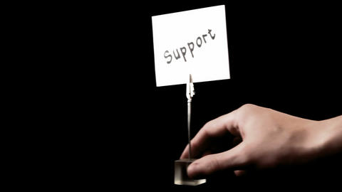 support. written on white Stock Video Footage