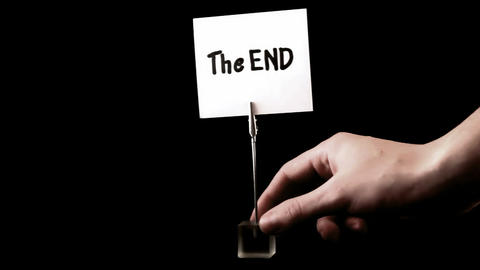 the end. written on white Footage