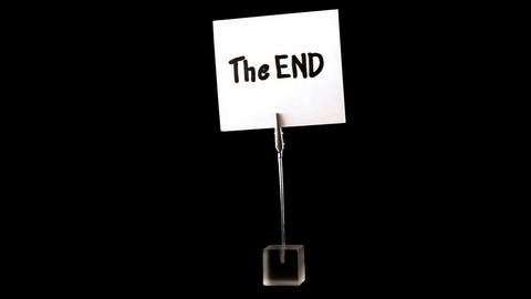 the end. written on white Stock Video Footage
