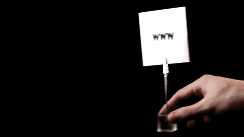 www. written on white Stock Video Footage