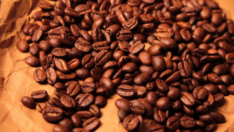 beautiful coffee beans close-up Live Action
