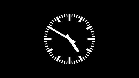 Clock-24CX Stock Video Footage
