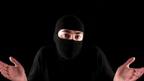 ninja do not know black background Footage