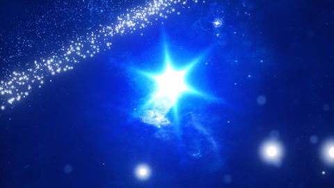 Animated background Cosmos and galaxies Stock Video Footage
