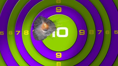 bullet target Stock Video Footage
