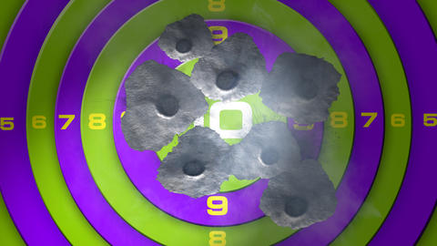 bullet target Stock Video Footage