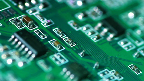 computer card close-up as the background Stock Video Footage