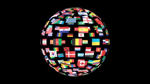 World Flags B Fbm Stock Video Footage