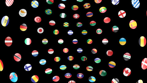 World Flags B Icm Stock Video Footage