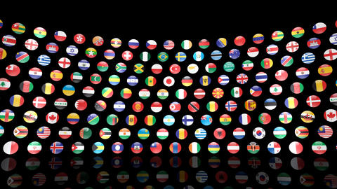 World Flags R Mcm Stock Video Footage