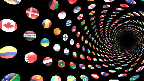 World Flags T Yrcm Stock Video Footage