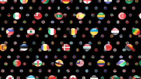 World Flags W Fcm Stock Video Footage
