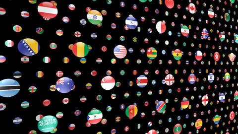 World Flags W Ncm CG動画