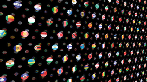 World Flags W Ncm Stock Video Footage