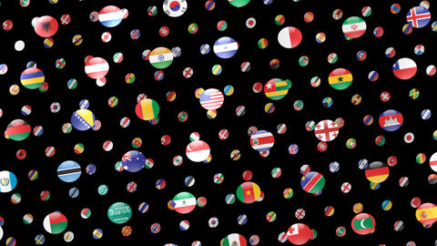 World Flags W Rcm CG動画