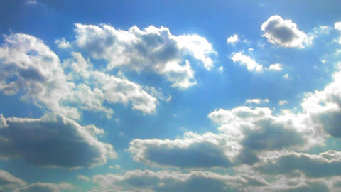 Heaven - Clouds and blue sky. Time lapse Footage