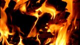 Beautiful Flame In The Furnace stock footage