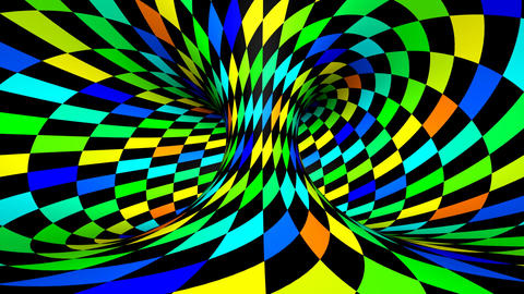 Twisted rotation - wink square colors CG動画素材