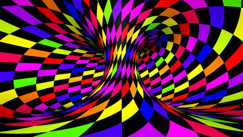 Twisted rotation - wink square colors Stock Video Footage