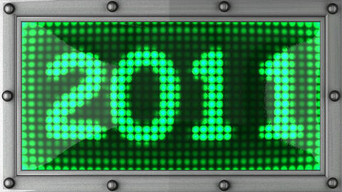 2011 announcement on the LED display Animation