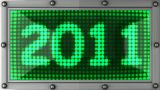 2011 Announcement On The LED Display stock footage