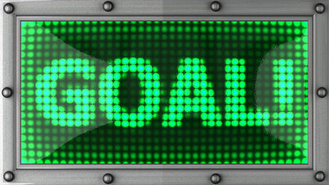 goal announcement on the LED display Stock Video Footage