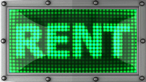 rent announcement on the LED display Animation