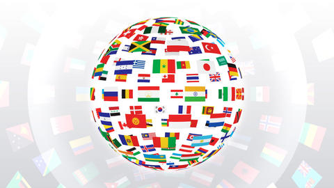 World Flags B Fbw Stock Video Footage