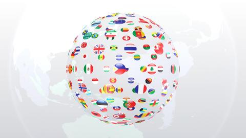 World Flags B Fce Stock Video Footage