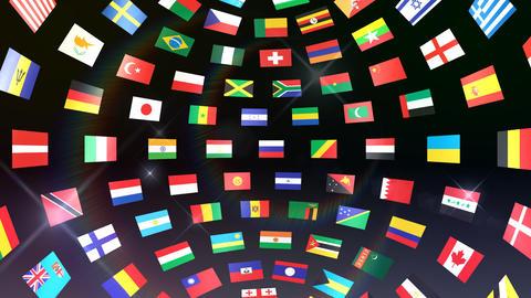 World Flags B Ibb Stock Video Footage