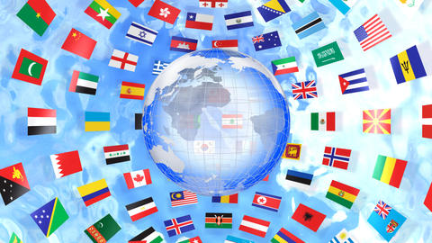 World Flags B Ibe Stock Video Footage