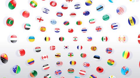 World Flags B Icw Stock Video Footage