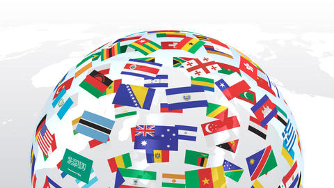 World Flags B Tbe Stock Video Footage