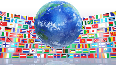 World Flags R Mbe Stock Video Footage