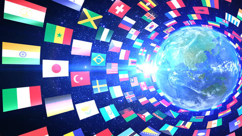 World Flags T Yrbe Animation